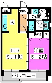 ラフィーネ・箱崎 / 301号室間取り