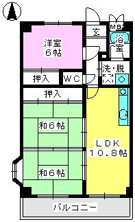 パステルハイムⅡ / 301号室間取り