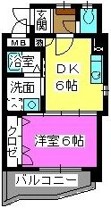 メルベーユ博多 / 505号室間取り