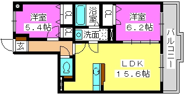 パークコート博多の森 / 1-302号室間取り