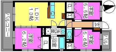 メゾン・フルール / 301号室間取り