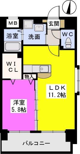 スルス門松駅前Ⅱ / 203号室間取り