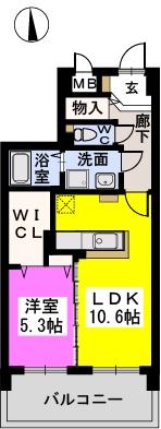 リヴェール伊賀Ⅲ / 502号室間取り