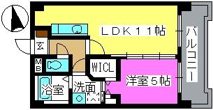 K.313 fukuoka / 202号室間取り
