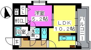 K.313 fukuoka / 301号室間取り