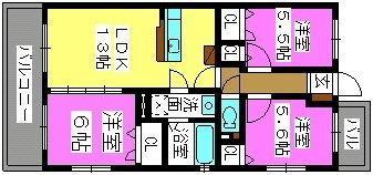ハピネス21 / 303号室間取り
