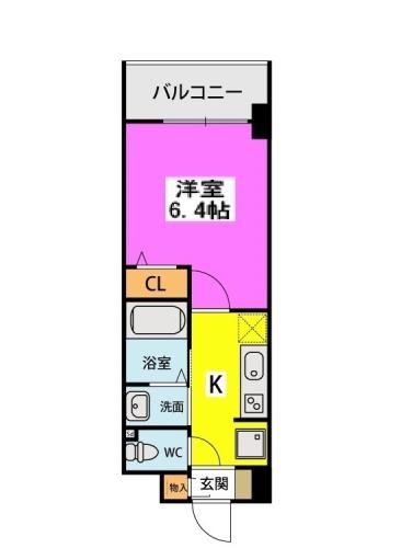 (仮称)北原1丁目プロジェクト / 406号室間取り