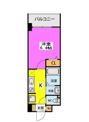 (仮称)北原1丁目プロジェクト / 407号室間取り
