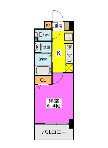 (仮称)北原1丁目プロジェクト / 416号室間取り