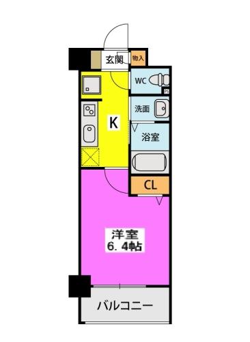 (仮称)北原1丁目プロジェクト / 717号室間取り