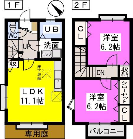 ティアラ戸田 / B101号室間取り