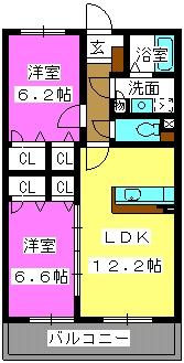 デューク筑紫野 / 302号室間取り