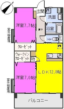 コンフォート筑紫 / 901号室間取り