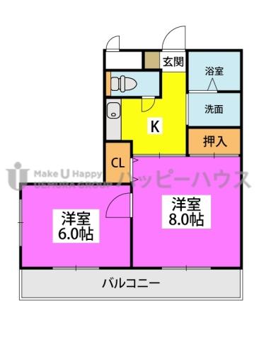 フルスリーラ / 301号室間取り