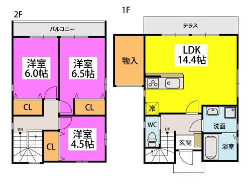 仮)タウンハウス石崎 / 106号室間取り