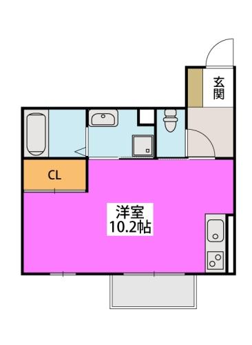 ※インペリアル大賀Ⅳ / 303号室間取り