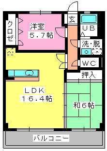 ロイヤルMⅡ / 403号室間取り