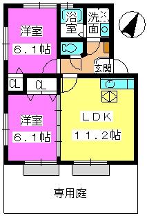 メロディハイツ飯倉 / D4101号室間取り