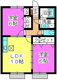 プランドール / 102号室間取り