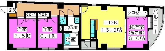 オークピア藤崎駅前 / 701号室間取り