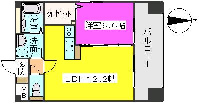 MM-5 / 1306号室間取り