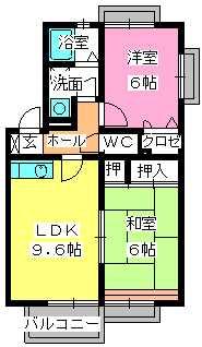 ティアラ若草 / 203号室間取り