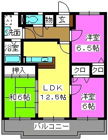 K's ガーデン / 202号室間取り