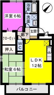 グリーンライフ古賀 / 305号室間取り