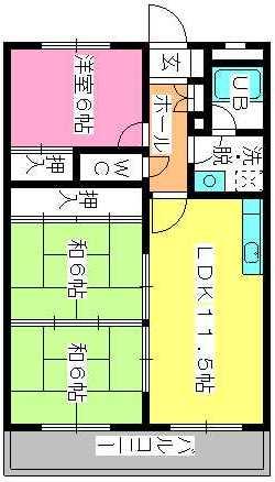 シティハイツ春日 / 302号室間取り