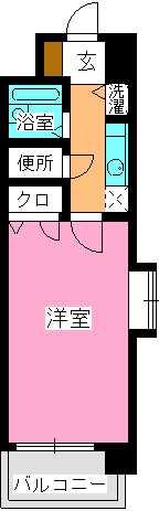 ピュア春日公園 / 603号室間取り