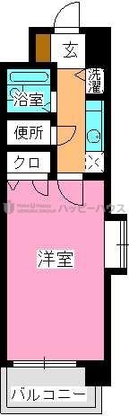 ピュア春日公園 / 803号室間取り