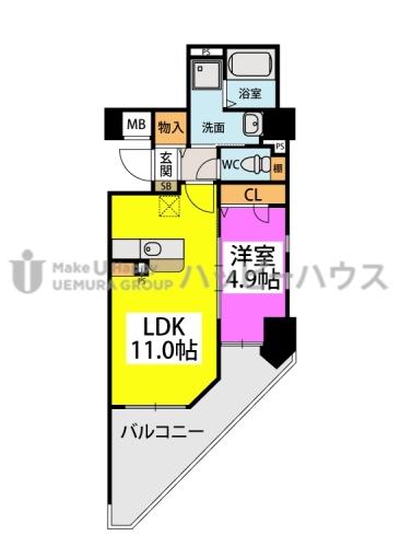 仮)春日原駅前マンション / 301号室間取り