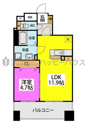 仮)春日原駅前マンション / 302号室間取り