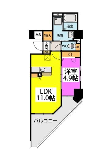 仮)春日原駅前マンション / 401号室間取り