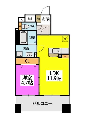 仮)春日原駅前マンション / 402号室間取り