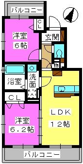 Lynx Ohashi / 301号室間取り