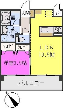 アバンダントsanchiku / 303号室間取り