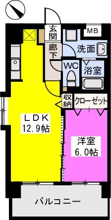 THビル / 701号室間取り