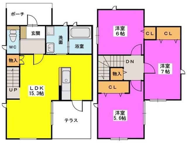 タウンハウス南福岡 / A戸建て間取り