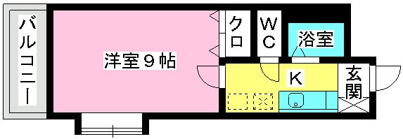 サンライズ香椎Ⅱ / 403号室間取り
