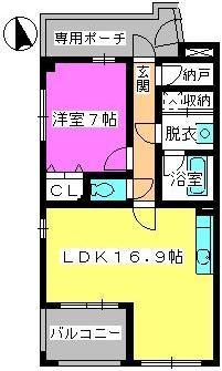 ビ・ザ・ビ・ランドⅡ / N-202号室間取り