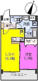 オータムレーベン / 303号室間取り