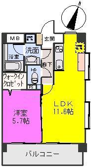 オータムレーベン / 507号室間取り