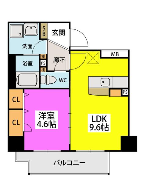 ノアール香椎 / 401号室間取り