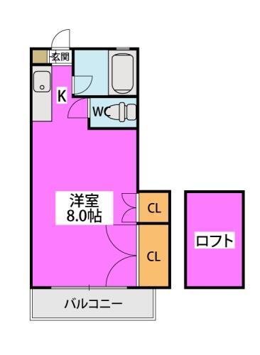 ケープビレッヂⅠ / 202号室間取り
