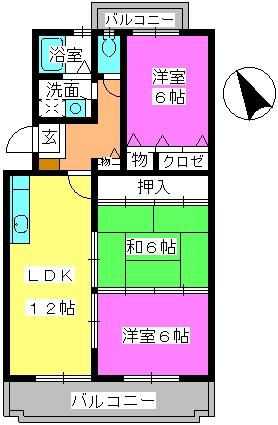 グレースマンション・ヤナセ / 402号室間取り