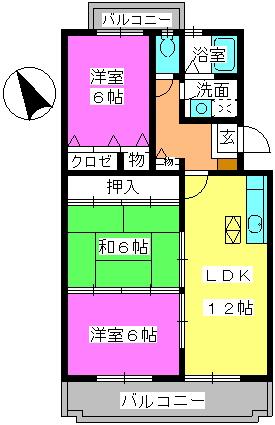 グレースマンション・ヤナセ / 403号室間取り