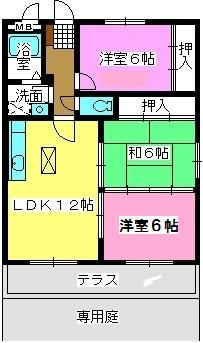 サンライズ那珂川 / 101号室間取り