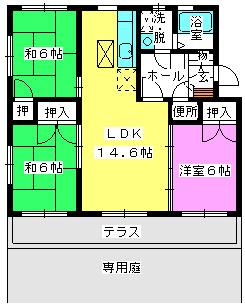 エクセレント・フジⅡ / 103号室間取り