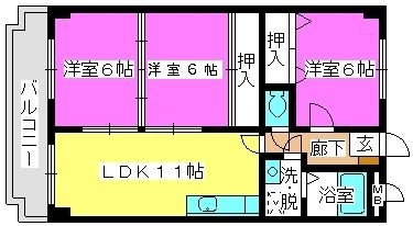 エントピア那珂川 / 303号室間取り